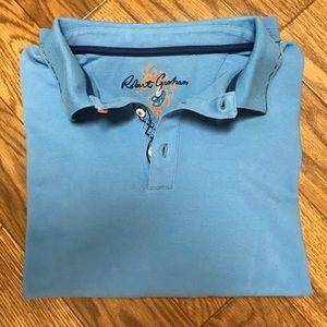 ROBERT GRAHAM S/Sleeve Polo Shirt   XL